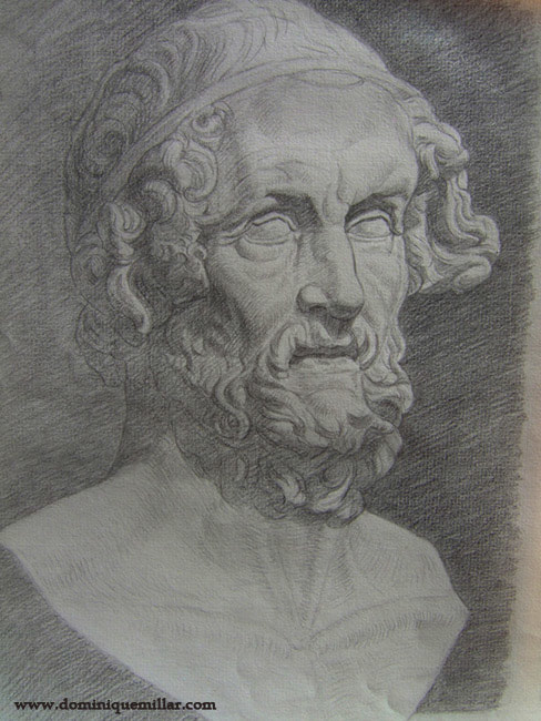 Dominique Millar, Bust of Homer, Drawing Course