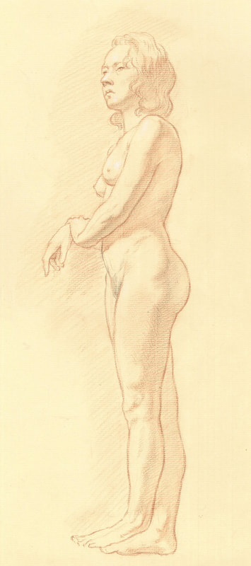 Dominique Millar_Standing Female Nude