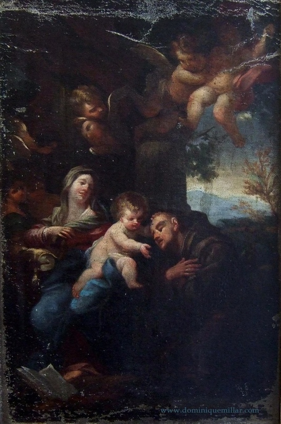 Dominique Millar's Collection, Artist: Carlo Maratta, Virgin and Child With St. Anthony of Padua