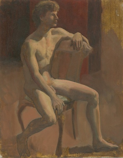 Dominique Millar, Oil Study of Male Nude, painting course sydney